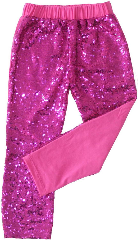 Messy Code Kids Baby Girls Sequin Leggings Long Pants Trousers Cotton