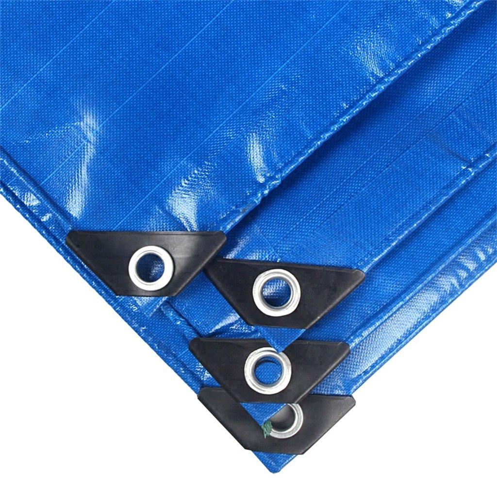 Plane Persenning Blau Outdoor Shade Heavy Duty Plane Multifunktions Tarp Auto Stiefel Dach Regen Abdeckung Camping Trailer Zelt, Multi-Größe-Optionen Abdeckplanen (größe   5MX7M)