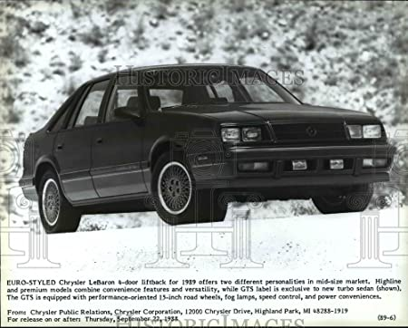 Amazon.com: 1991 Press Photo Chrysler La Baron 1989 Automobile model - cvb15332: Photographs