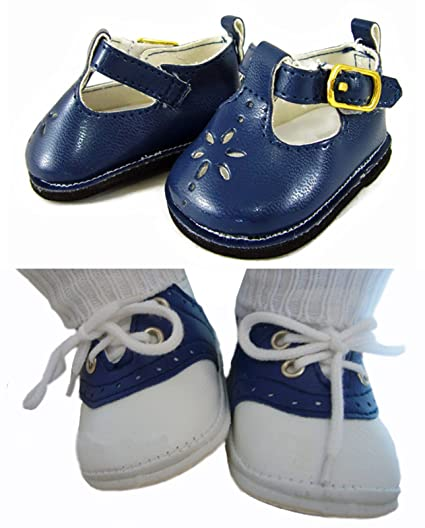 d4afc9e1ff24b Amazon.com: Navy Boy/Girl Shoes for Bitty Baby Twins by Doll Clothes ...