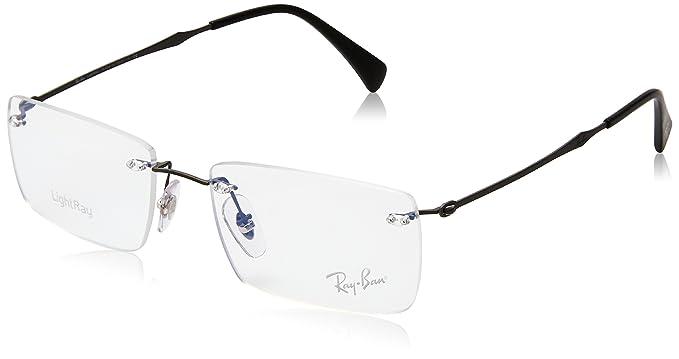 Amazon.com: anteojos Ray-Ban óptico Rx 8755 1128 mate oscuro ...