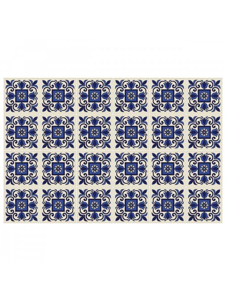 HUELLA - DECO Azulejos Set di 24 sticker da piastrella 1060 Tiles stickers - Misura - SMALL n.24 10x10 Koeso Srl