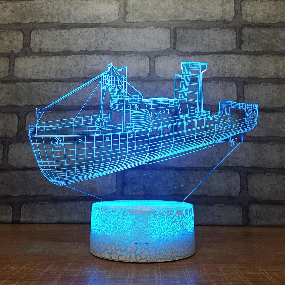 3D Illusion Lampe Led Nachtlicht Planet Visualisierung Amazing Optische T/äuschung Touch Control Light 7 Farben /Ändern Schreibtischlampen F/ür Kinderzimmer Decoration