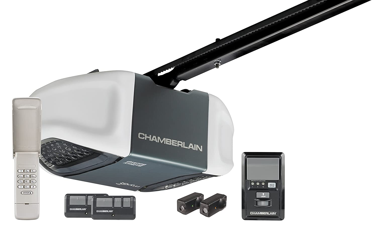 Chamberlain WD962KEV Whisper Drive Garage Door Opener with MyQ Technology, Top Garage Door Opener