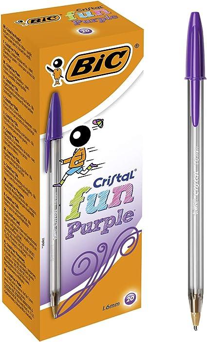 3 UNIDADES BiC Cristal Large Bolígrafo de punta de bola punta ancha de 1,6 mm