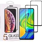 Cindy Mica para Xiaomi Redmi Note 9 Screen Protector,2-Pack Cristal Templado Protector de Pantalla para Xiaomi Redmi 10X…