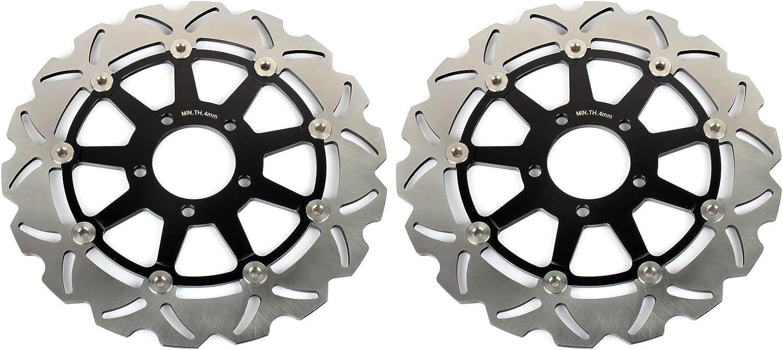 TARAZON 1 Paire de disques de frein avant pour GSX-R GSXR 1300 Hayabusa GSX1300R 1999-2007//‿GSX-R GSXR 600 750 1000//‿TL1000 R S GSX1400