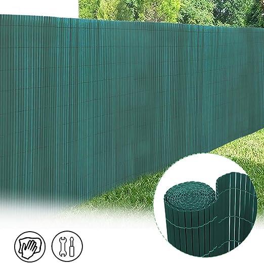 Froadp 90x600cm Parasol de PVC Imitación Parabrisas de Bambú Cerca del Privacidad de Balcón y Pantallas Protectoras Decorativa Divisor Vallas para Jardín Terraza al Aire Libre(Verde): Amazon.es: Jardín