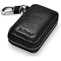 Buffway Genuine Leather Car Smart Key Case