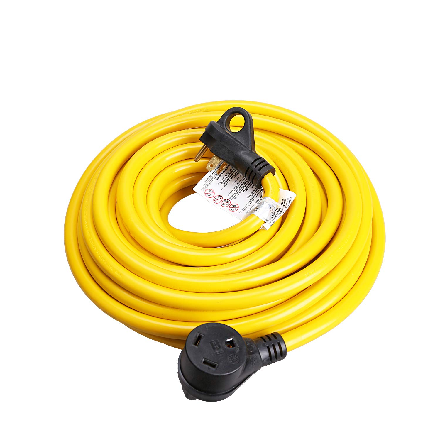 EPICORD RV Extension Cord 30Amp Molded Connector with Grip Handle Plug, 50FT, 125V