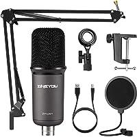 ZINGYOU Paquete de micrófono USB ZY-UA1 PC Kit de micrófono condensador de grabación para computadora portátil para…