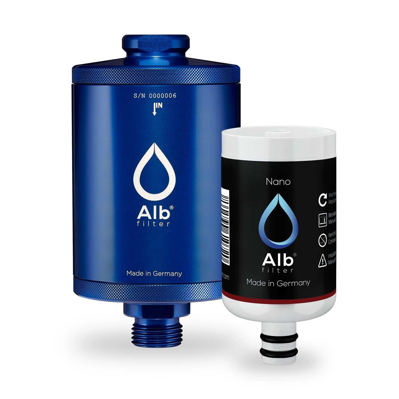 Alb Filter® Nano Trinkwasser-Filter für jede Küche. Zertifizierte Spezial-Filter-Kartusche gegen gefährliche Keime und Baketerien. Made in Germany Blau