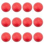 Brybelly - Pelotas de futbolín con Textura roja para mesas de futbolín estándar (12 Unidades)