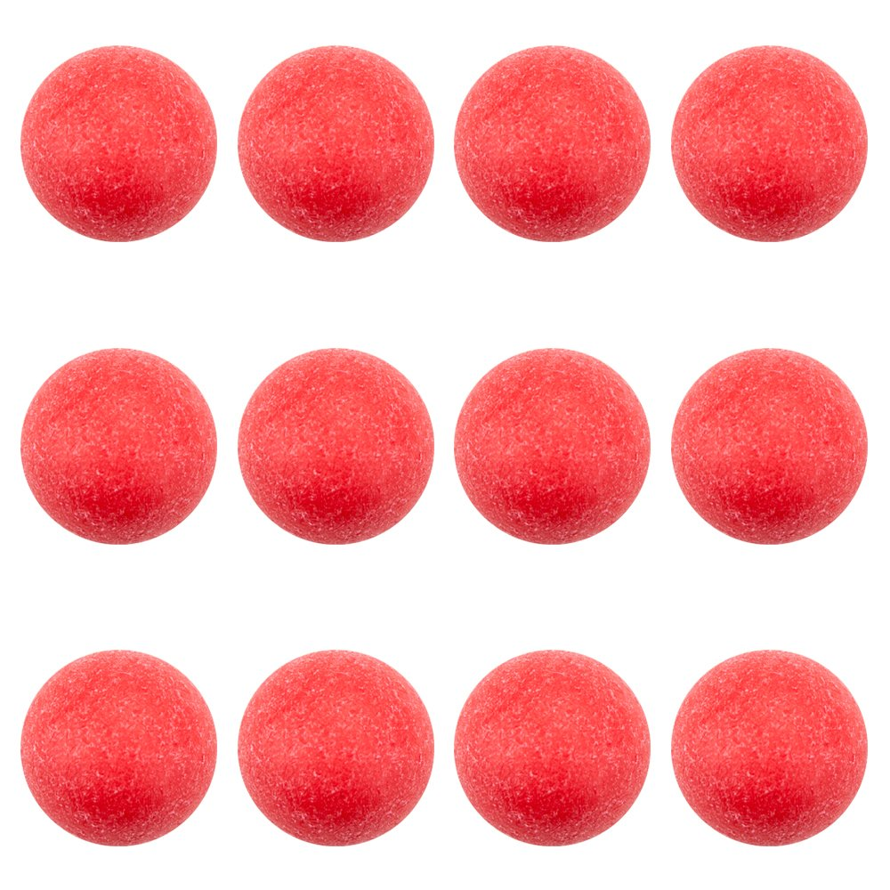 Brybelly 12 Pack of Red Textured Foosballs for Standard Foosball Tables & Classic Tabletop Soccer Game Balls by Brybelly