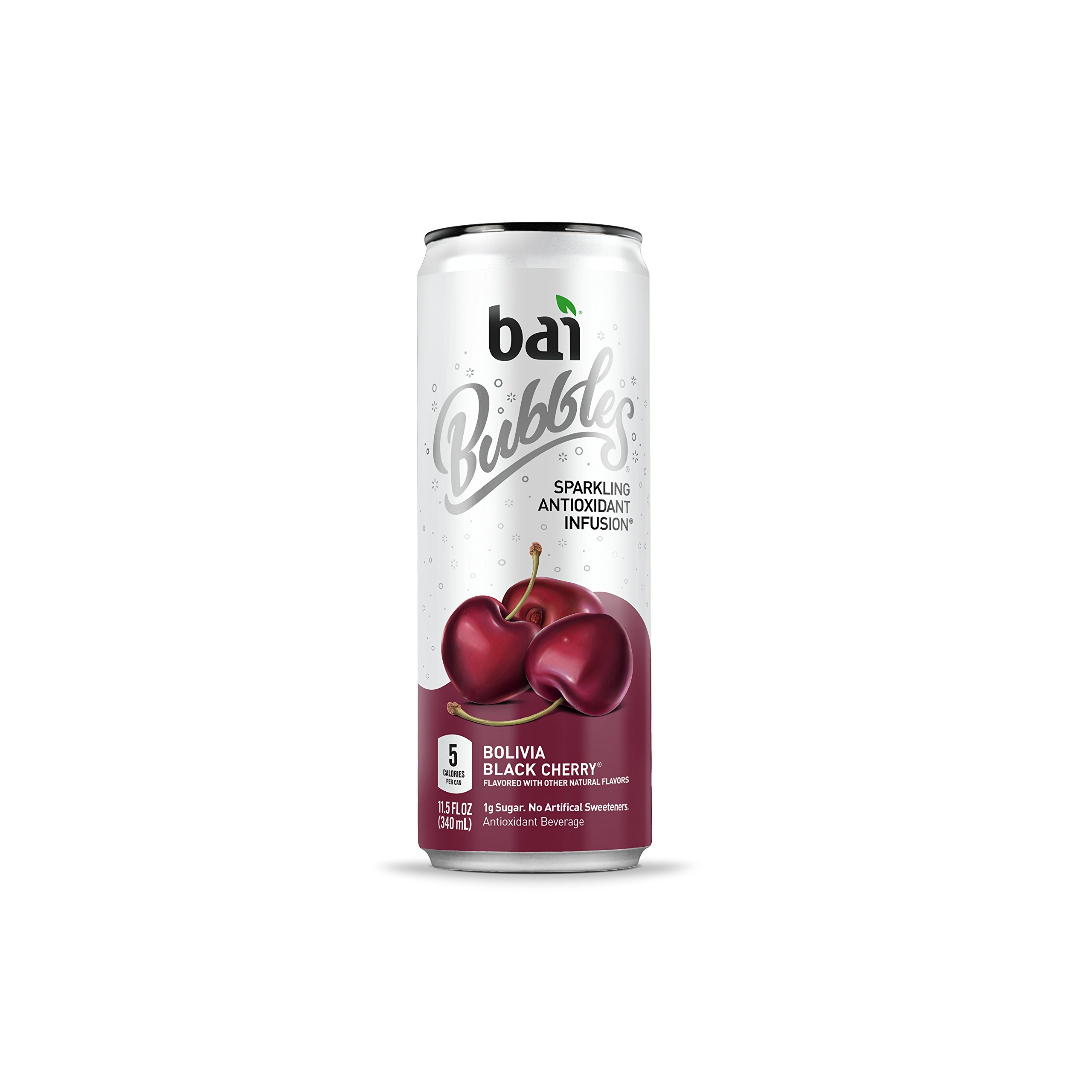 Bai Bubbles Bolivia Black Cherry, Antioxidant Infused, Sparkling Water Drinks, 11.5 Fluid Ounce Cans, 12 count (Packaging May Vary)