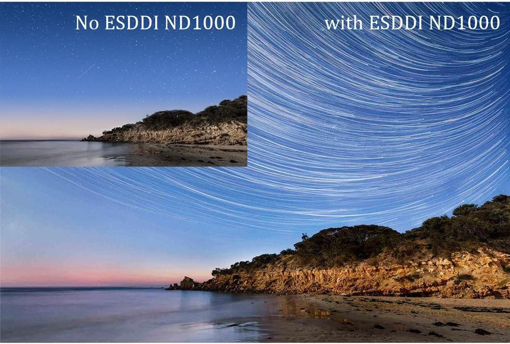 ESDDI 77mm ND 1000 Filter Photo ND Filter MRC ND Filter with Dark Black Aluminum Frame Schott B270 Optical Glass