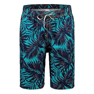 Rera Homme Short de Bain Bermudas casual Imprimé Floral Maillot de Bain Grand Taille Occasionnel Short d été Short de Natation Séchage Rapide Pants Loisir Plage Sport Vacances Surf Swimwear Beachwe
