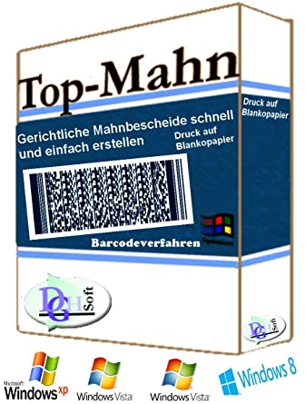 Topmahn Barcode Gerichtliches Mahnverfahren Amazonde Software