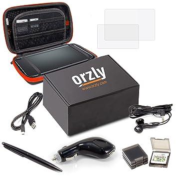 Accesorios 3DSXL, Pack de Orzly para Nintendo 3DS XL Original o Nuevo NEW 3DS XL [Set incluye: Cargador de Coche / Cable USB / Funda para Consola / ...
