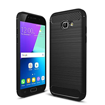 online store 66b9e 782c8 IVSO Samsung Galaxy A3 2017 Case Soft Silicon Shockproof Case with Carbon  Fiber Design Protection Cover for Samsung Galaxy A3 2017 Smartphone (For ...