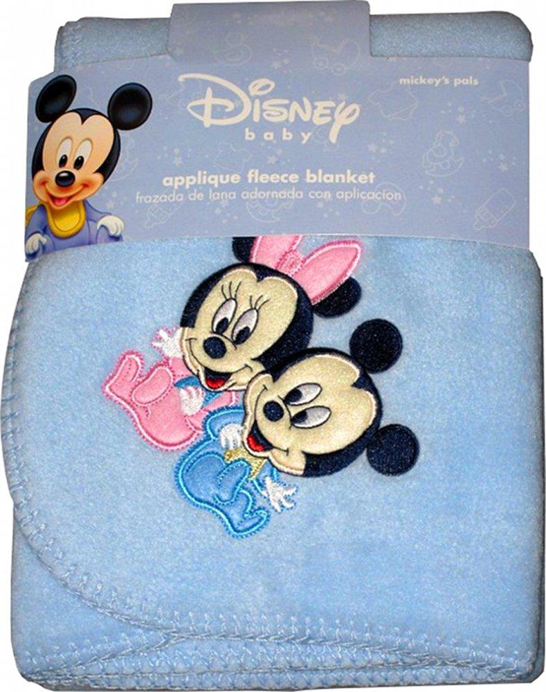 Disney Baby Minnie Mouse Applique 100/% Soft Fleece Blanket