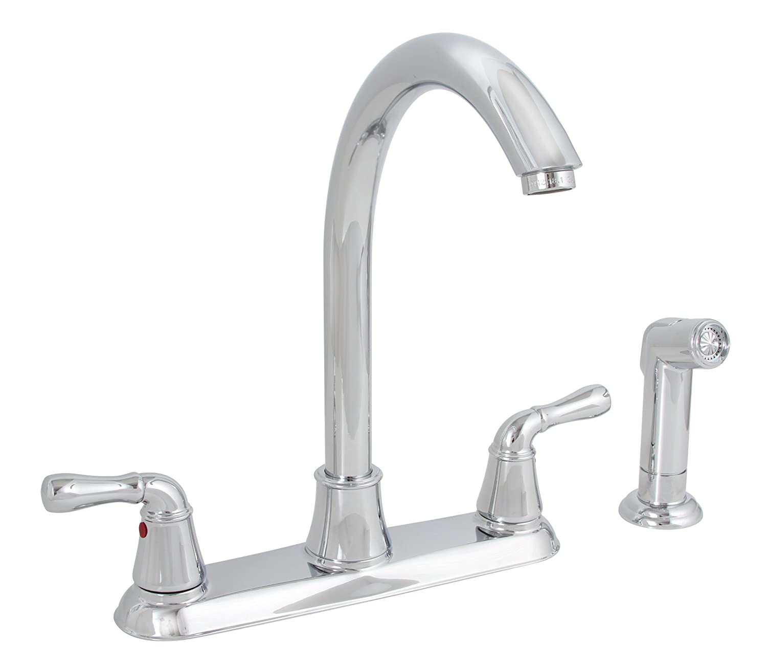 Premier 120047LF Sanibel Lead Free Two Handle Kitchen Faucet With Matching  Spray, Brushed Nickel   Touch On Kitchen Sink Faucets   Amazon.com