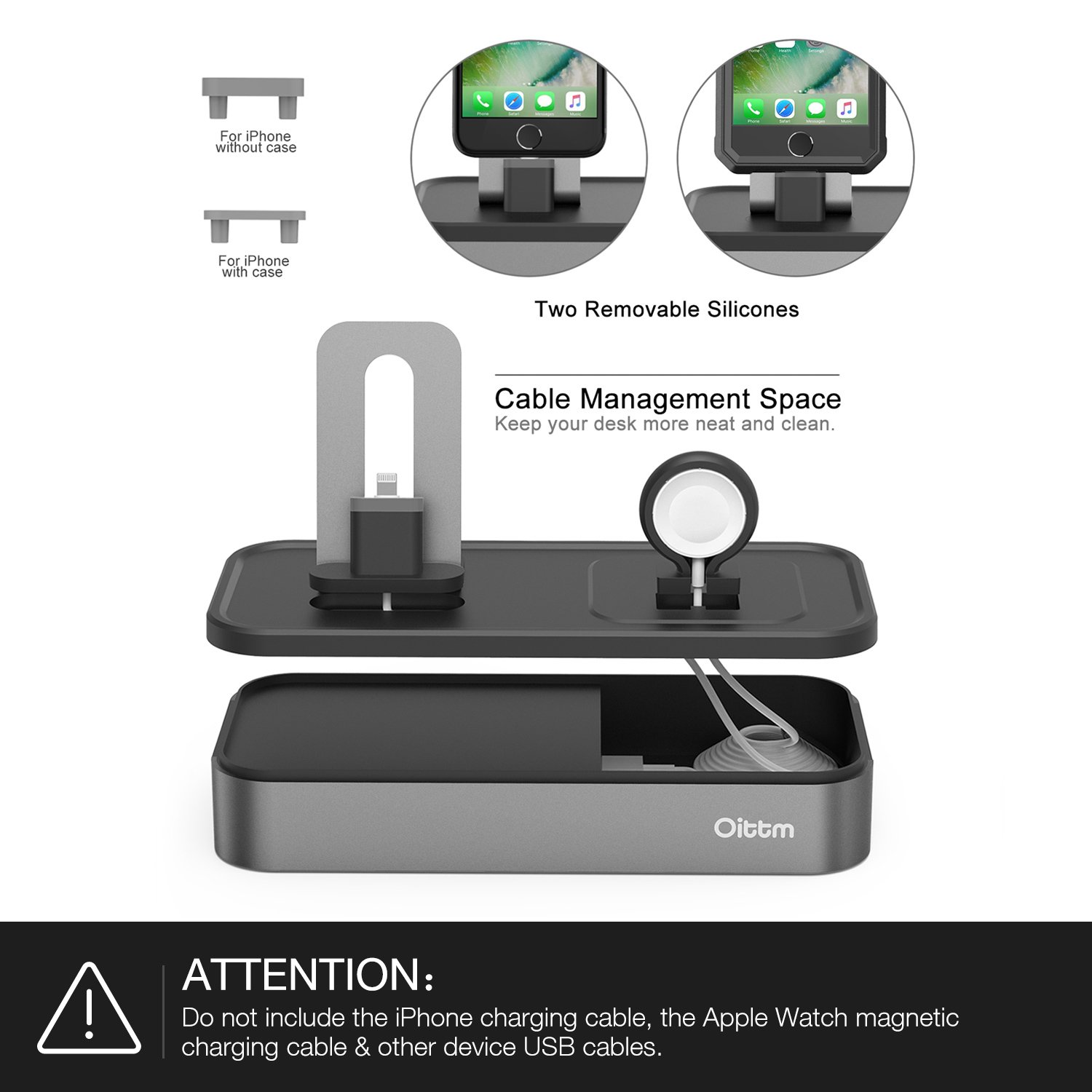 Amazon.com: Apple Watch Series 3 Stand, Oittm [5 in 1 New Version] 5 ...