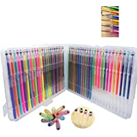 Suton Untra Fine Marker 48 Color Gel Pens with Diamond Tip, Coloring Gel Pens Greater for Crafting, Doodling, Drawing…