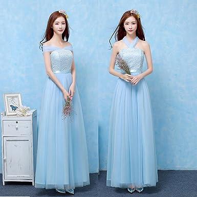 875b2e7954081 Yijinxiu ブライズメイド服 ドレス 花嫁 ウェディングドレス ロングドレス Aライン プリンセス 結婚式 6