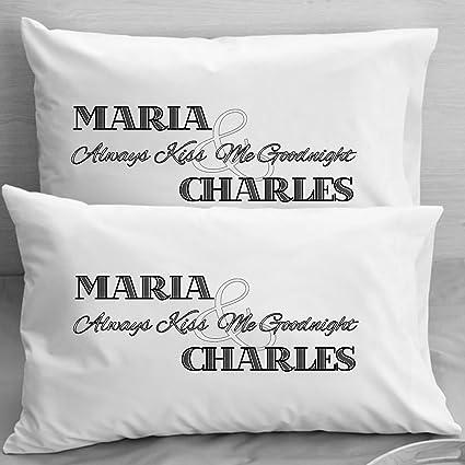 amazon com personalized pillowcases boyfriend girlfriend