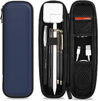 ProCase Funda para Apple Pencil, Estuche PU de Transporte Bolsa Protectora Rígida de EVA para Apple Pencil/Samsung S Pen/Lápiz para Surface, con Bolsillo de Malla y Correa Elástica -Azul Oscuro: Amazon.es: Electrónica
