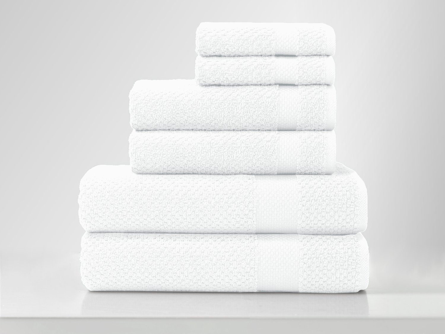 American Pillowcase Oviedo Ultra 100% Cotton 6-Piece Luxury Towel Set, White
