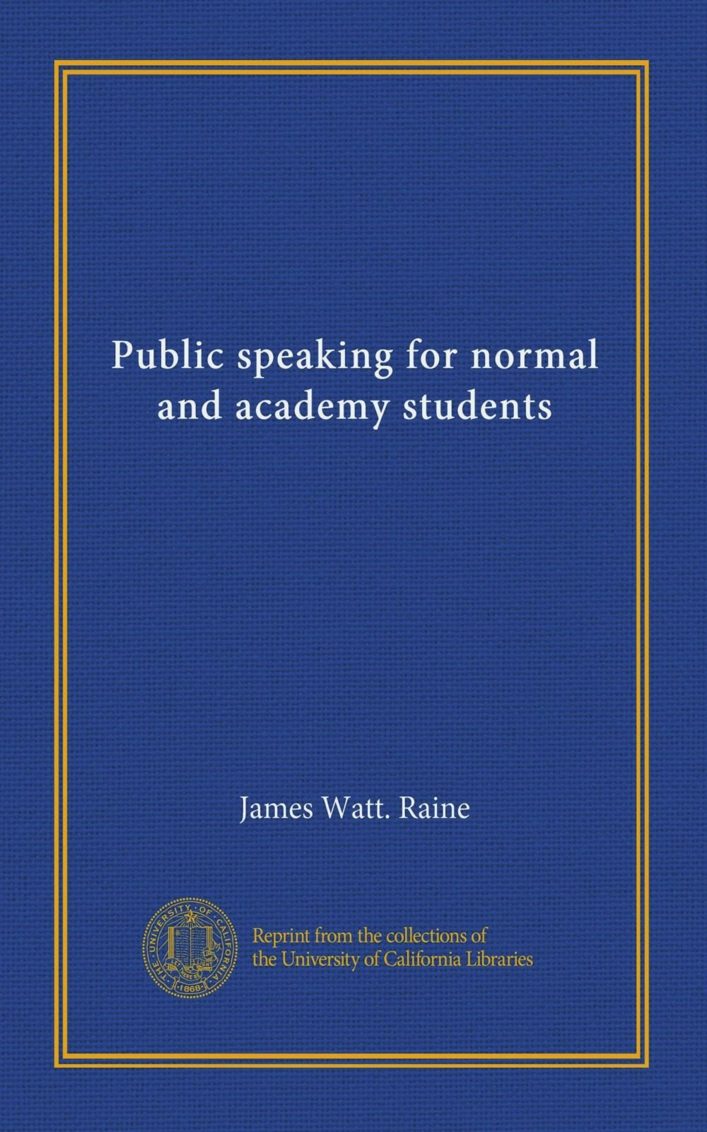 Download Public speaking for normal and academy students PDF