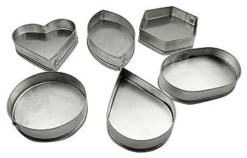 Aluminio 6 Da Forma A Utensilios De Cocina De Molde Chuleta Para La Fabricación De Empanadas Fritas: Amazon.es: Hogar
