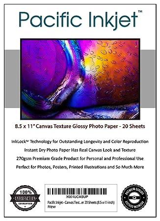 Amazon.com: Pacific Inkjet – Papel fotográfico con textura ...