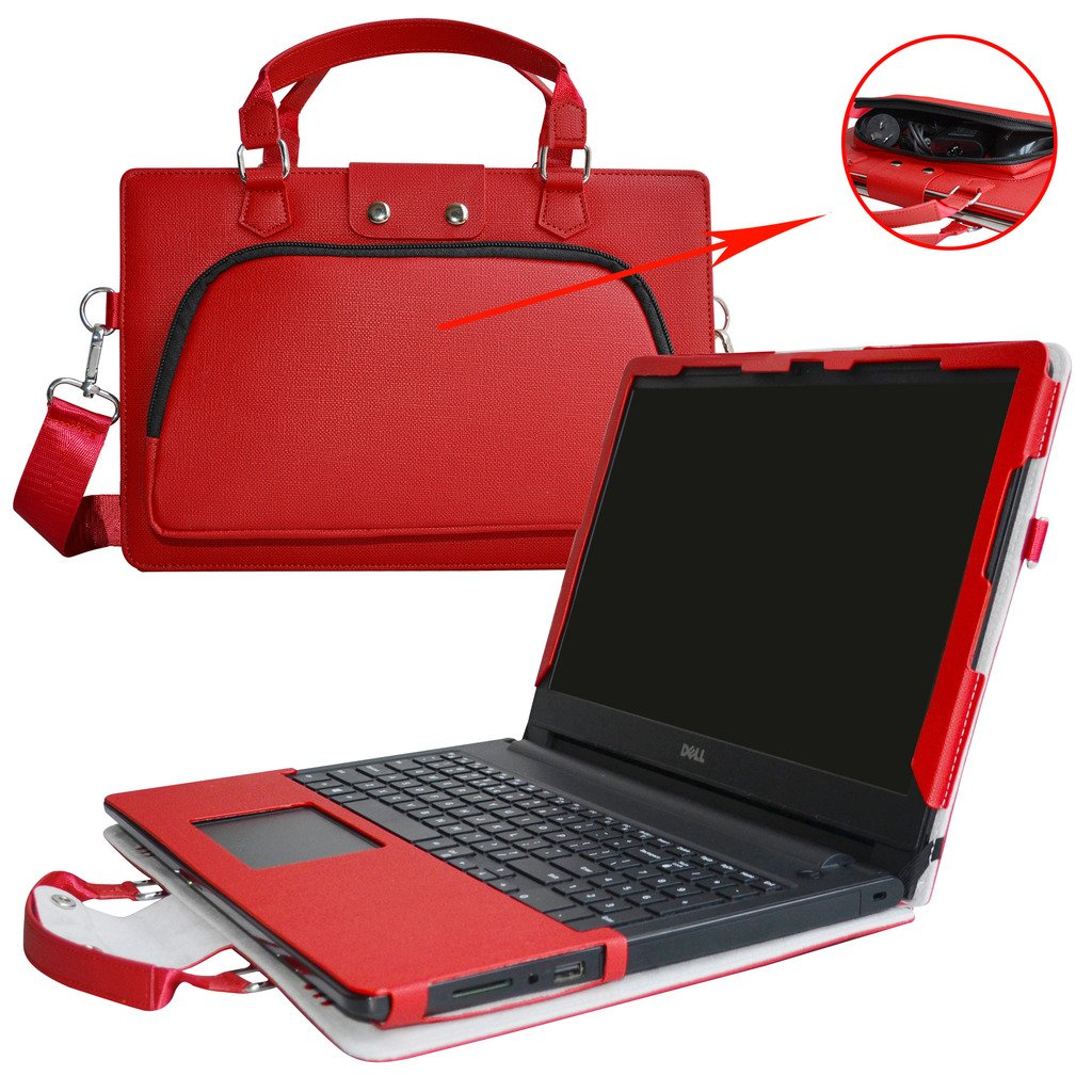 Inspiron 15 Gaming Edition 5577 5576 Case,2 in 1 Accurately Designed Protective PU Leather Cover + Portable Carrying Bag for 15.6