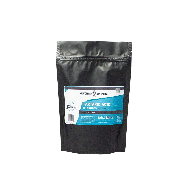 Pure Tartaric Acid - 12 Oz. - USP Food and Pharmaceutical Grade - Highest Purity