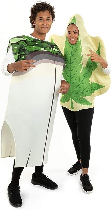 Disfraz de Hoja de Marihuana y Juntas, para Halloween, Talla única ...