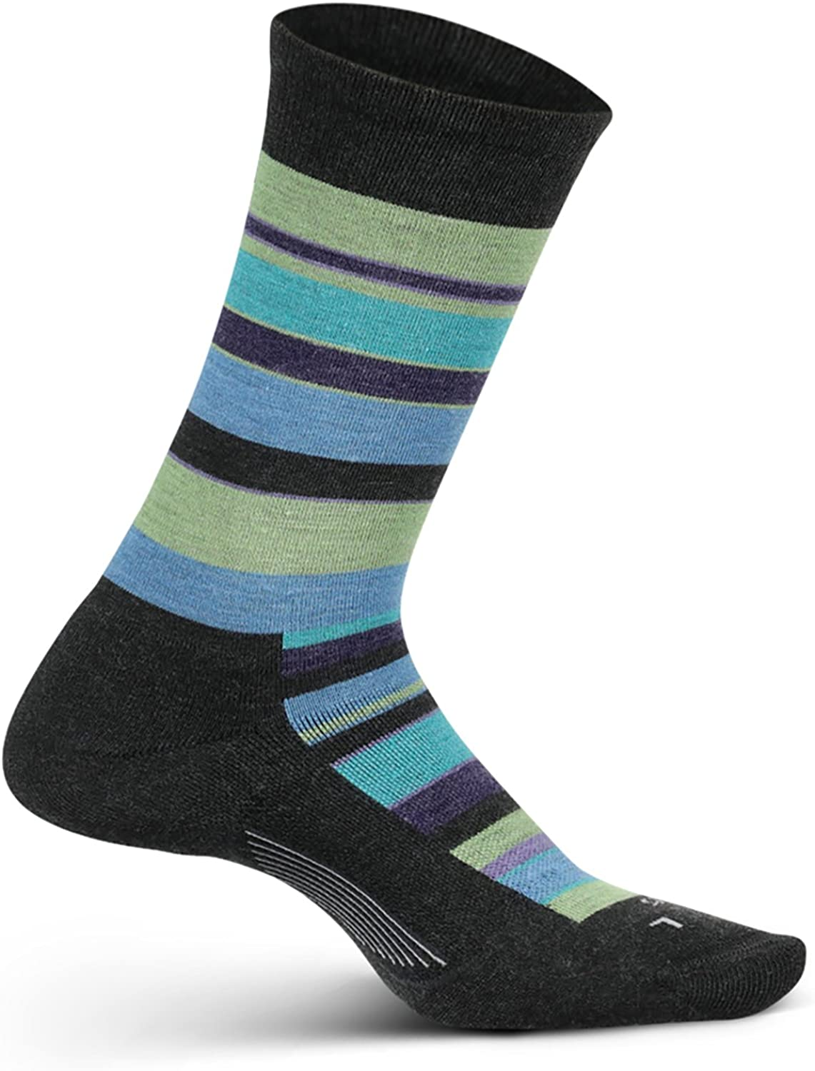 Be Bold Cushion Crew Size Small Feetures Womens Everyday Performance Dress Sock Charcoal