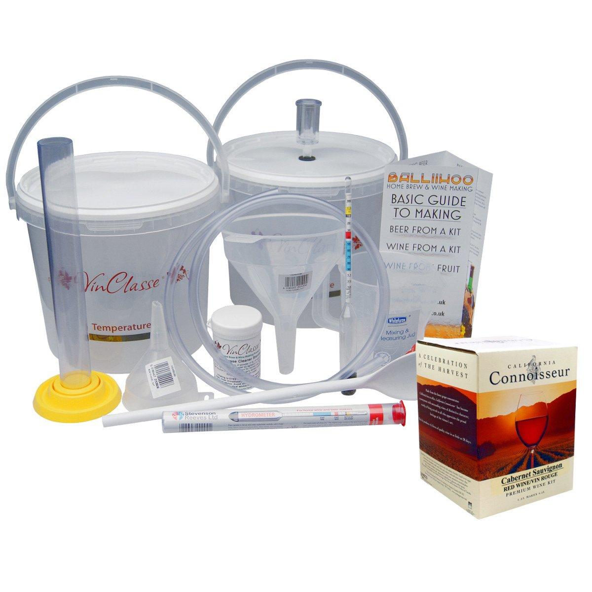 Balliihoo® Wine Making Equipment Kit Including 6 Bottle Cabernet Sauvignon Ingredients Or Choose From 4 Other Varieties Balliihoo Homebrew