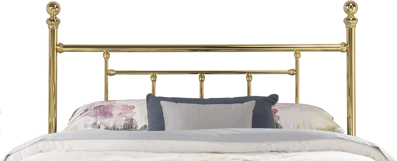 Hillsdale Furniture Hillsdale Chelsea Bed Frame Full Headboard, Classic Brass