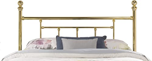 Hillsdale Chelsea Headboard, Rails Not Included without, Queen, Classic Brass