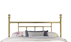 Hillsdale Furniture Hillsdale 1037 Chelsea, Bed Frame Not Included King Headboard, Classic Brass