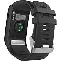 MoKo Soft Silicone Replacement Watch Band ONLY for Garmin Vivoactive HR Sports GPS Smart Watch.