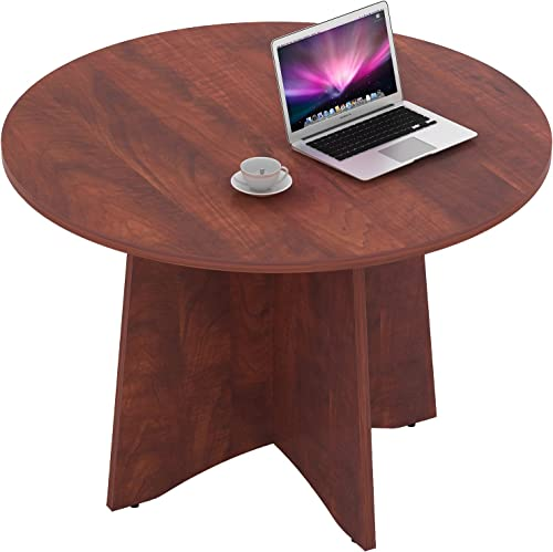 Sunon 48 Inch Laminate Round Conference Table Dining Table