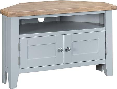 Suffolk Grey Painted Oak Large TV Unit