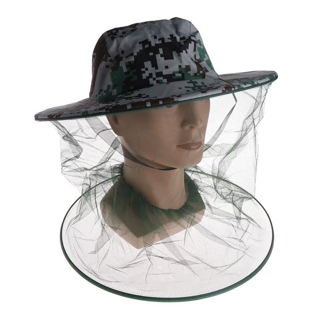 Cuigu Bee Hat - Kopf Face Protector Cap - Imkerei Mesh Net Hat - Verhindern Insekten für Outdoor Camping Angeln Wandern