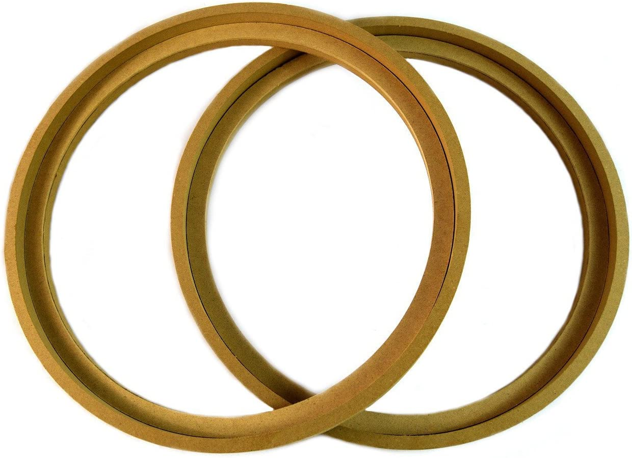"""Audiopipe 1 Pair 10"""" RING-10BZ MDF Speaker Ring Recess with Bezel MOUNTING Spacer RECESSED"""