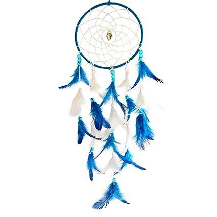 Paperiva Blue & White Handmade Dream Catcher Wall Hanging