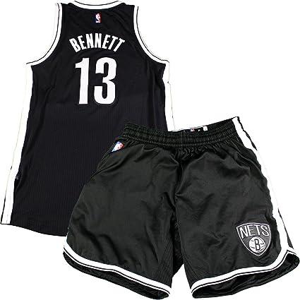 674c976be Anthony Bennett Brooklyn Nets Game Used  13 Black Jersey   Short Set ...